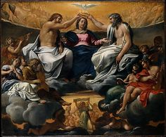 The Coronation of the Virgin, after 1595, oil on canvas, Annibale Carracci, Italian