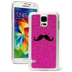 For Samsung Galaxy S3 S4 S5 Glitter Bling Hard Case Cover Mustache