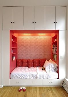 Build nook beds under the eaves of loft? Note- check height and compare to bunk bed
