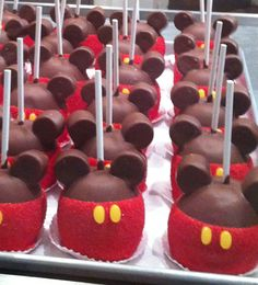 mickey mouse carmel apples, but thinking you could do cake pops too
