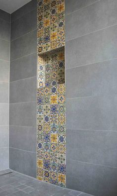 Orientalische Fayencen - SOUTHERN TILES Mediterrane Wand- und Bodenfliesen - Tap the link now to get your teeth whitening kit for FREE! Grey Floor Tiles, Wall And Floor Tiles, Bathroom Design Small, Bathroom Interior Design, Bathroom Designs, Toilette Design, Mediterranean Decor, Mediterranean Bathroom, Decorating Small Spaces