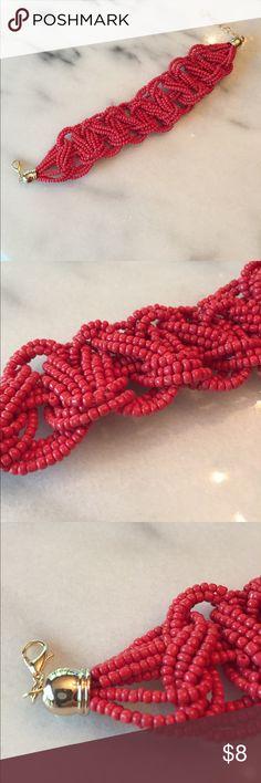 ✨Buy 3 get 3 free✨Red beaded bracelet New in packaging (a) Jewelry Bracelets