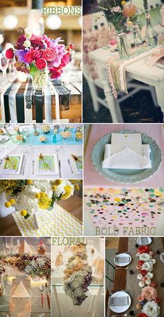 Wedding reception table runners and decor inspiration