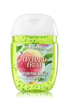 Bath & Body Works PocketBac Hand Gel Orchard Frost: NEW PocketBac is perfectly shaped for pockets & purses, making it easy to fight germs on-the-go! Plus, our all-new skin softening formula contains powerful germ-killers that keep your hands clean & soft. Bath & Body Works, Bath N Body, Purifier, Body Cleanser, Bath And Bodyworks, Hygiene, Body Spray, Smell Good, Hand Sanitizer