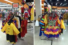 Colorful costumes for the upcoming are on display at the Department Store. Check them out! United Nations, Department Store, Colorful, Display, Costumes, Check, Billboard, Dress Up Clothes, Costume