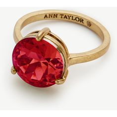 Ann Taylor Small Cocktail Ring ($30) ❤ liked on Polyvore featuring jewelry, rings, chianti, ann taylor, statement rings, cocktail rings, polish jewelry and ann taylor jewelry