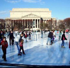 National Gallery of Art Sculpture Garden Ice Rink - Washington D.C.  #Yuggler #KidsActivities #IceSkating