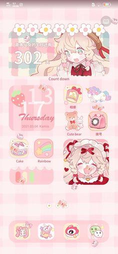 pink lock screen theme