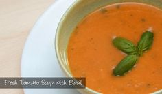 The Delia Smith Project (#57) from Eine Kugel Vanilla: Fresh Tomato Soup with Basil