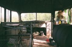 This is the inside of the bus that Chris lived in for the ending of his life