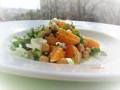 Chickpea, Mandarin & Blue Cheese Salad