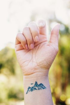 WRIST TATTOO   #inked #tattoo #nature #mountains #ink