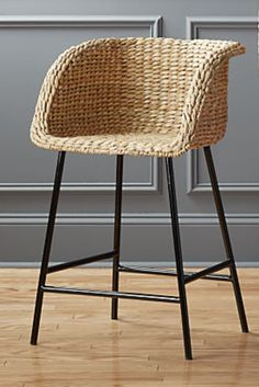 Silas Seagrass Bar Stools - Neisha Home Island Chairs, Bar Chairs, Rattan Chairs, Ikea Chairs, Lounge Chairs, Chair Cushions, Beach House Kitchens, Home Kitchens, Seagrass Bar Stools