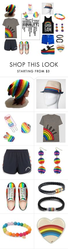 """""""Show your pride and support"""" by ningaunis ❤ liked on Polyvore featuring The Upside, Gucci, Sydney Evan, Anya Hindmarch, Rocket Dog and pride"""