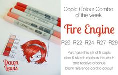 Copic Colour Combo – Fire Engine - bjl