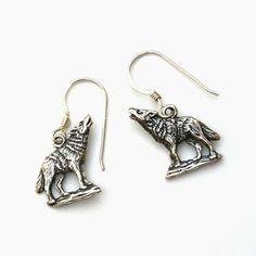 Sterling Silver Wolf Earrings Http Shamanscrystal Co Uk