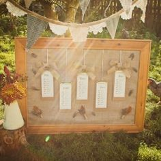 How to create a rustic wedding table plan.