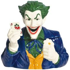 DC Comics The Joker Ceramic Cookie Jar - http://geekarmory.com/dc-comics-the-joker-ceramic-cookie-jar/
