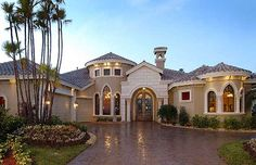 Plan W24004BG: Corner Lot, Premium Collection, Florida, Photo Gallery, Mediterranean, Luxury House Plans & Home Designs