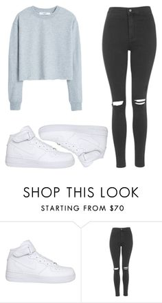"""Tumblr af"" by zosikapl ❤ liked on Polyvore featuring moda, NIKE, Topshop y MANGO"