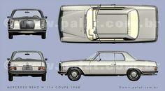 Mercedes-Benz-W114-Coupe-1968 by danpalatnik, via Flickr