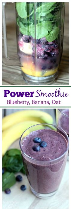 This is my favorite breakfast smoothie that keeps me full all morning! Recipe on TastesBetterFromS… This is my favorite breakfast smoothie that keeps me full all morning! Recipe on TastesBetterFromS… Power Smoothie, Smoothie Drinks, Healthy Smoothies, Healthy Drinks, Healthy Eating, Healthy Recipes, Oat Smoothie, Green Smoothies, Blueberry Banana Smoothie