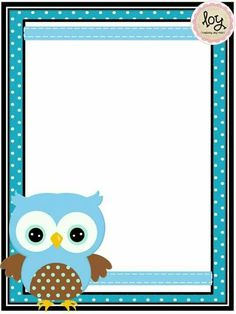 Printable Lined Paper, Free Printable Stationery, Page Borders Design, Border Design, Owl Theme Classroom, Boarders And Frames, Owl Books, My Children Quotes, Text Frame