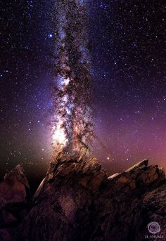 ……♥♥…… Milky way explosion, over Bold coast,Maine, by, Jared Blash, slight edit, via ~Lori