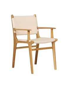 Our new Maya carver chair in flat leather, available to order in a range of leather colours.