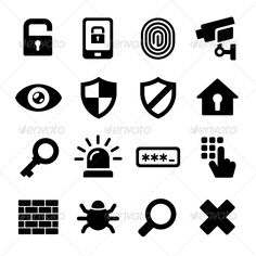 Buy Security Icons Set by In-Finity on GraphicRiver. Security Icons on White Background. Free Vector Images, Vector Free, Vector Stock, App Design, Icon Design, Design Art, Police, Best Icons, Forest Illustration