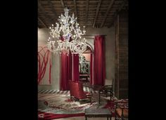 Lobby of The Gramercy Park Hotel, designed by Philippe Starck
