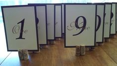 Wedding Table Numbers Pictures - Page 4 - Project Wedding