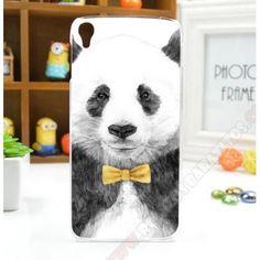 Carcasa plástica divertida Panda para Alcatel One Touch Idol