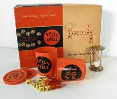Does anyone remember this game? vintage Spill and Spell word game - 1957