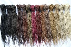 """DEFINITION: Solid -  Where the dread is one solid colour. (Synthetics Dreads)  DEFINITION: Crocheted- Where a crochet hook is used to pull hairs through and wrap around the dreads to create a textured """"authentic"""" look"""