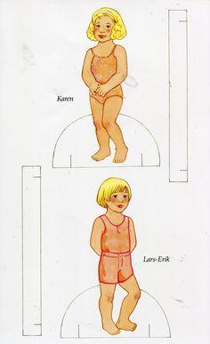Scandinavian girl and boy - paper doll 2