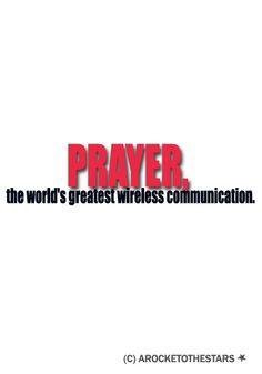 prayer the world's greatest wireless communication
