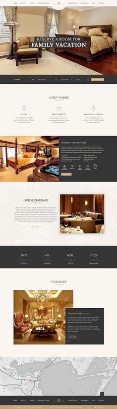 Luxury hotel, resort, room reservation website.