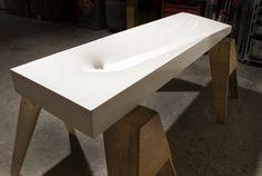 Concrete sinks by Gore Design Co.