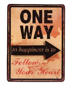 Loving this 'One Way' Wall Sign on #zulily! #zulilyfinds