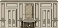 French style doors - Design by Agrell Architectural Carving - Decoration Fireplace Garden art ideas Home accessories French Interior, Classic Interior, Interior Walls, Interior Design, Door Design, Wall Design, French Classic, French Style, Cornice Design