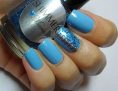 Nail Stories: Blue on Blue with Shimmer Polish Maria