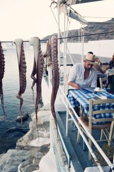 """Faros beach tavern on the Greek Island of Sifnos – found on """"places loved"""" by the inspirational photographer Carla Coulson. Santorini, Albania, Pays Europe, Myconos, Greek Isles, Voyage Europe, Greece Travel, Crete, Places To See"""
