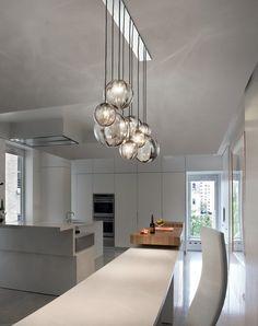 Direct light blown glass pendant lamp - Vistosi