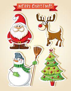 27 Free Printable Christmas Stickers Journal Prints Christmas