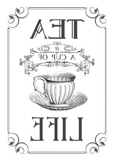 Tea Life reverse graphic