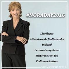 Vamos celebrar o aniversário da diva #NoraRoberts! O site Nora Roberts Brasil convidou blogs amigos para um sorteio especial. Livrólogos, Codinome: Leitora, Histórias sem Fim, In Death, Blog Leitora Compulsiva e Literatura de Mulherzinha celebram com os leitores, o #NoraDay2016 e 12 anos do site Nora Roberts Brasil. Veja como participar: http://livroaguacomacucar.blogspot.com/2016/10/noraday2016.html