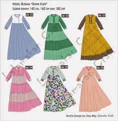 Dress Design Patterns, Dress Design Sketches, Fashion Design Sketches, Sewing Patterns, Abaya Designs, Moslem Fashion, Hijab Stile, Modele Hijab, Dress Anak