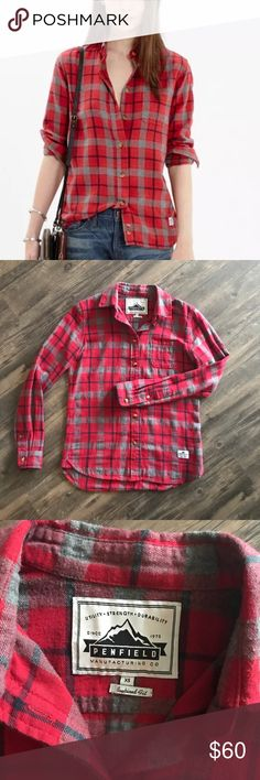Penfield Madewell Ravenwood Buffalo Flannel Shirt Worn three times. Great condition.  PRODUCT DETAILS Massachusetts-based Penfield has been churning out top-notch, weather-resistant outerwear—coveted by fans of heritage-style clothing and outdoor enthusiasts alike—since 1975. This cozy plaid flannel is the kind of woodsy piece you can wear anywhere. True to size to an xsmall, not oversized.  Cotton. Machine wash. Import. Madewell.com only (SOLD OUT).  Item B2285.y   Measurements Bust 38'…