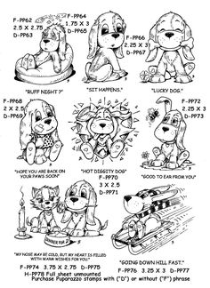 NEW Puparazzo Pup Rubber Stamps by Stamp Affair